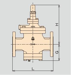 RP-9 RP-9N先导活塞蒸汽减压阀的结构
