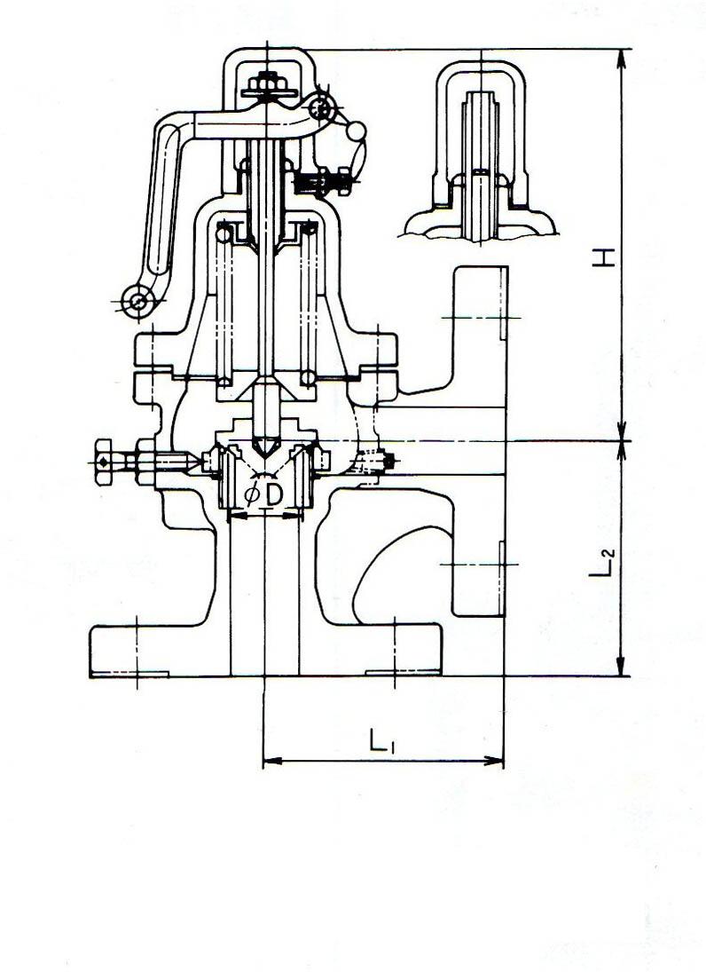 SL-23H安全阀尺寸图